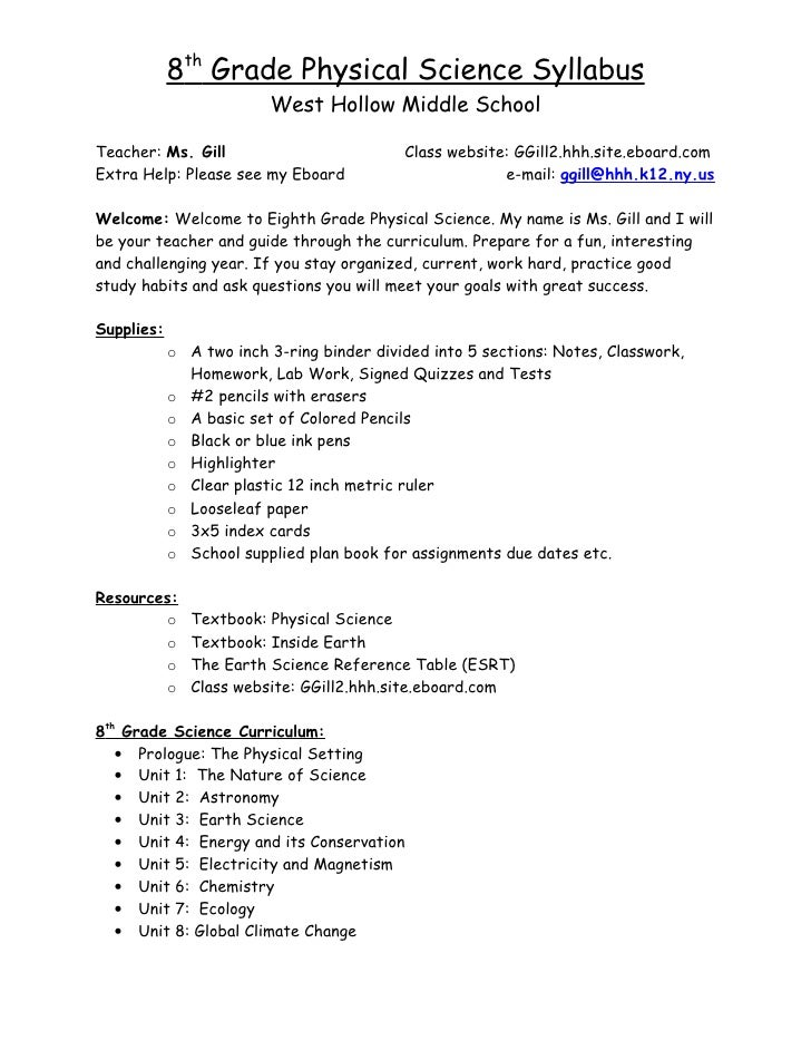 Science Homework Help For 8th Grade Get A Middle Grades Science