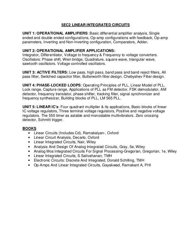 Syllabus b tech (electronics & communication)