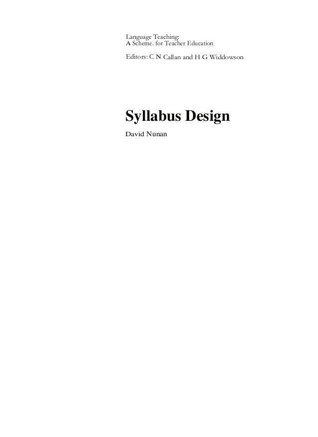 Syllabus design copy