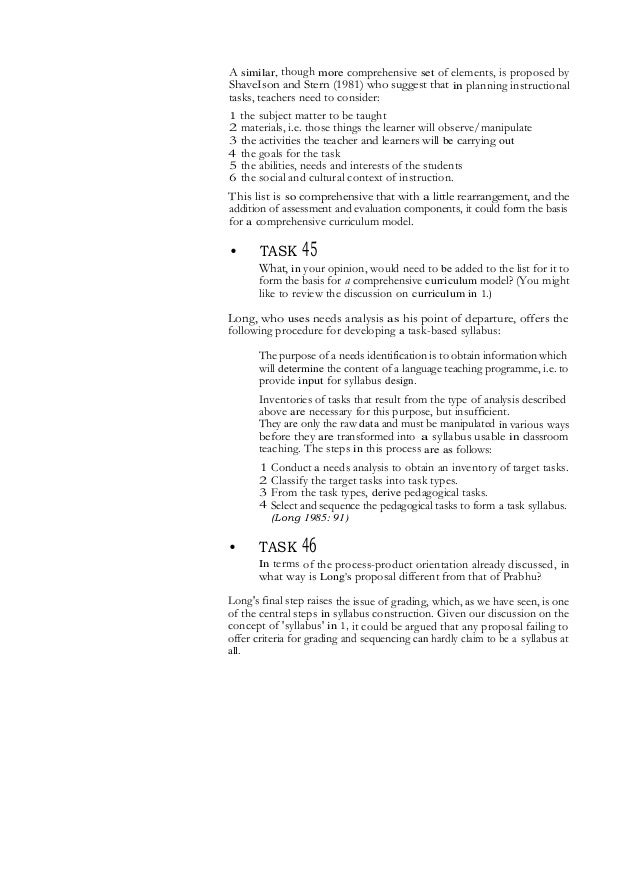 syllabus design Foreign language curriculum and syllabus design main issues of this unit • what is a curriculum • what is a syllabus • defining characteristics of syllabi.