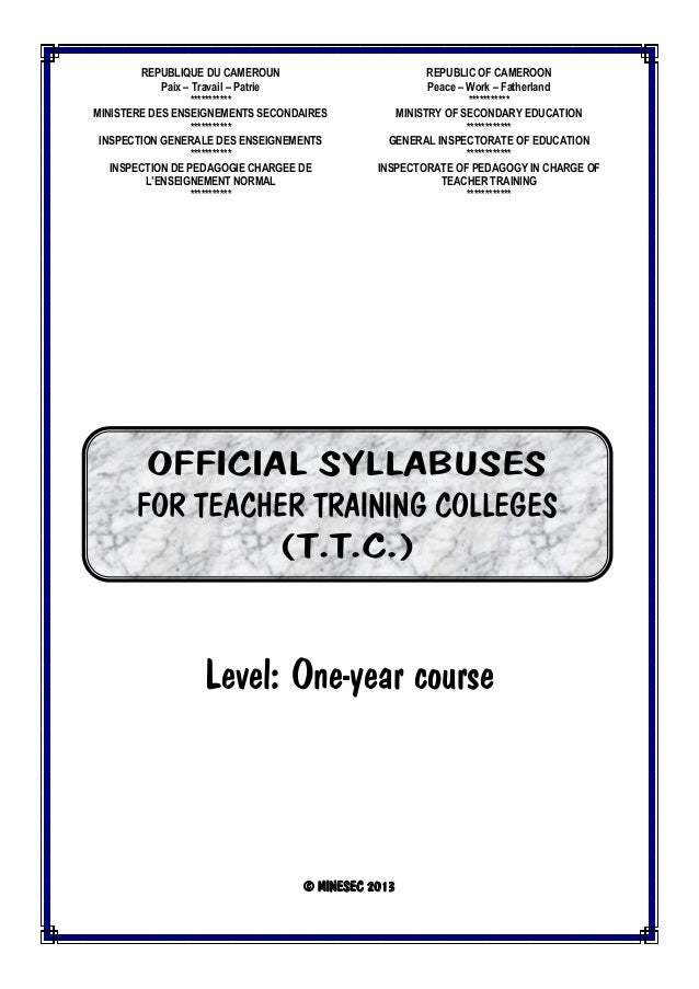 Syllabuses Ttc One Year Course