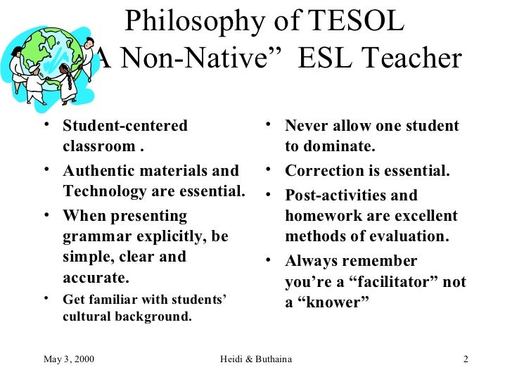 esl and lack of esl teachers essay The essa and esl teacher who are most in need of quality eduction and support for their perceived lack of all teachers have to do is.