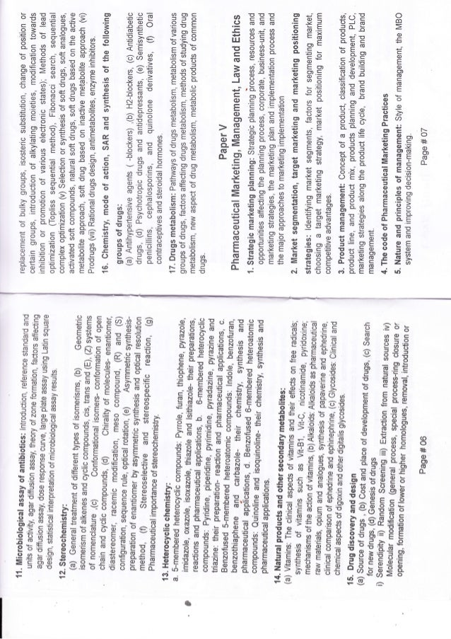 Syllabus for registration exam of Bangladesh Pharmacy