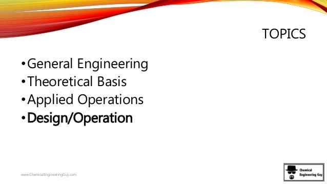 chemical engineering syllabus explained