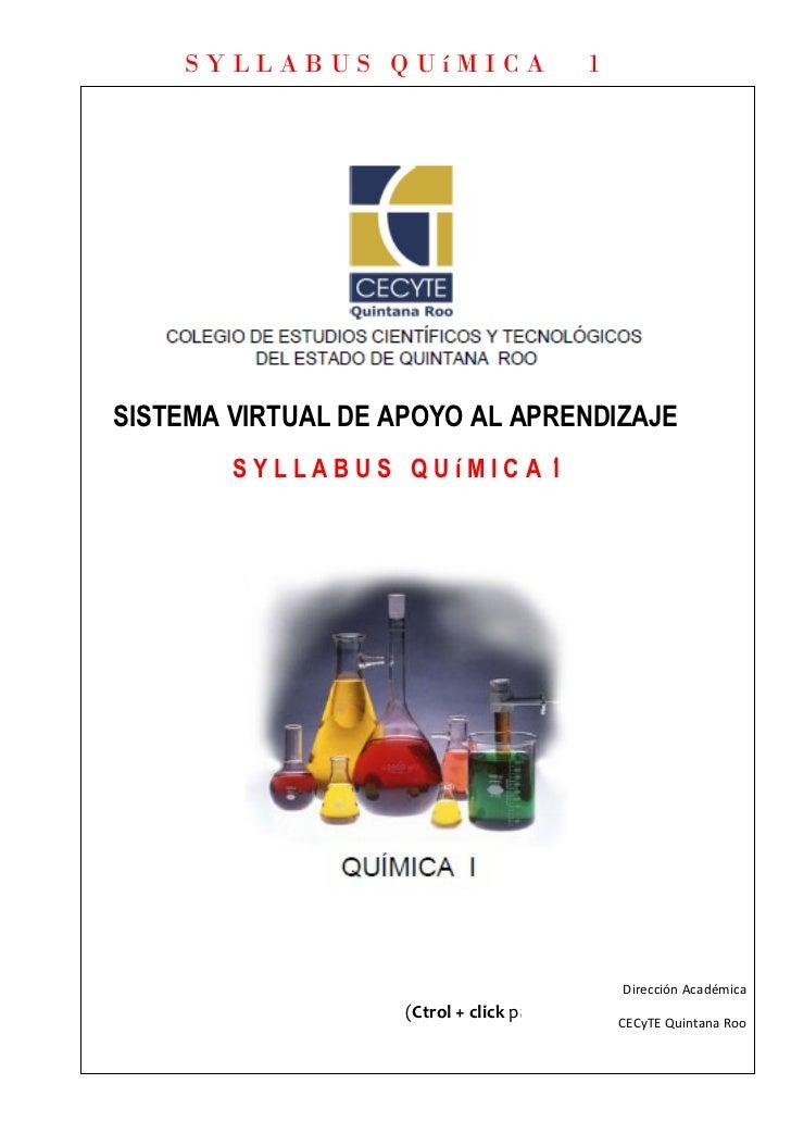 Syllabus quimica 1