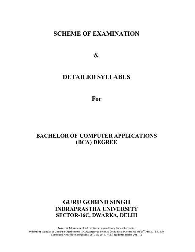 SCHEME OF EXAMINATION                                                        &                             DETAILED SYLLAB...