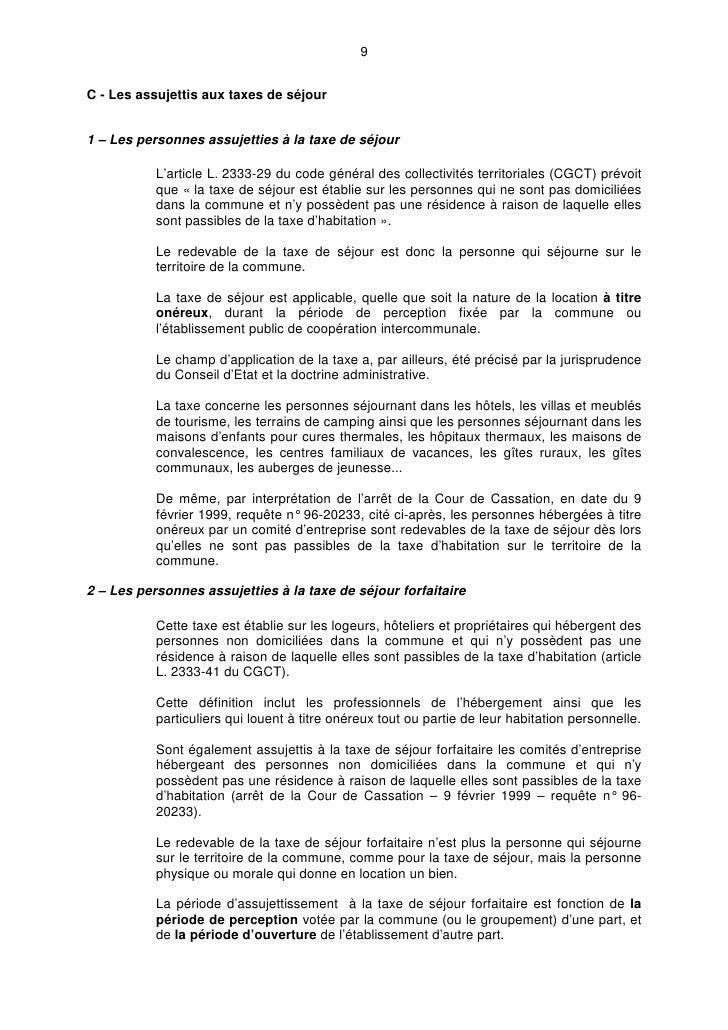 Sylvain pechcontal circulaire taxe de s jour formation mopa cnfpt - Taxe d habitation location meublee ...