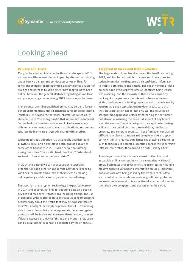 Symantec Website Security Threat Report 2014