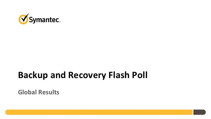 Symantec 2012 Backup and Recovery Flash Poll Global Results