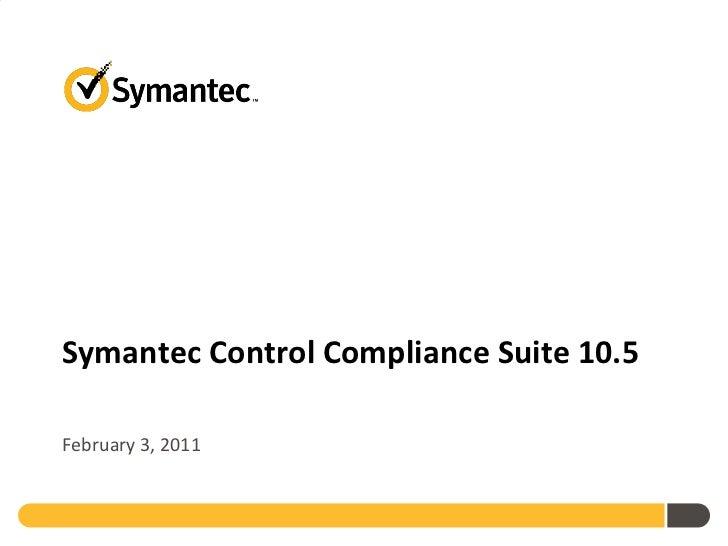 Symantec control compliance suite