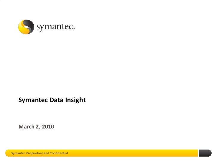 Symantec Data Insight