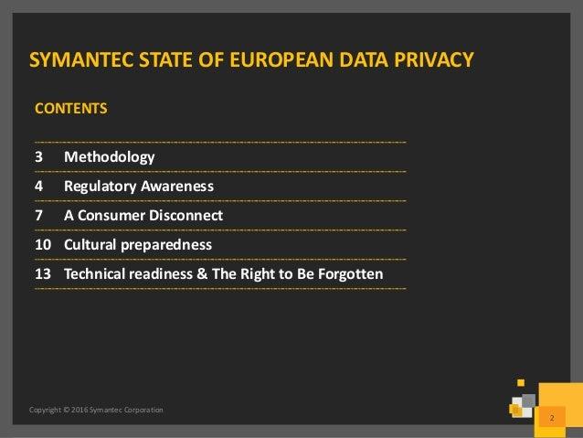 Symantec - State of European Data Privacy Slide 2
