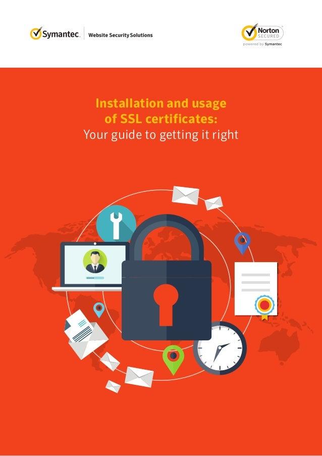 Installation Process of An SSL Certificate