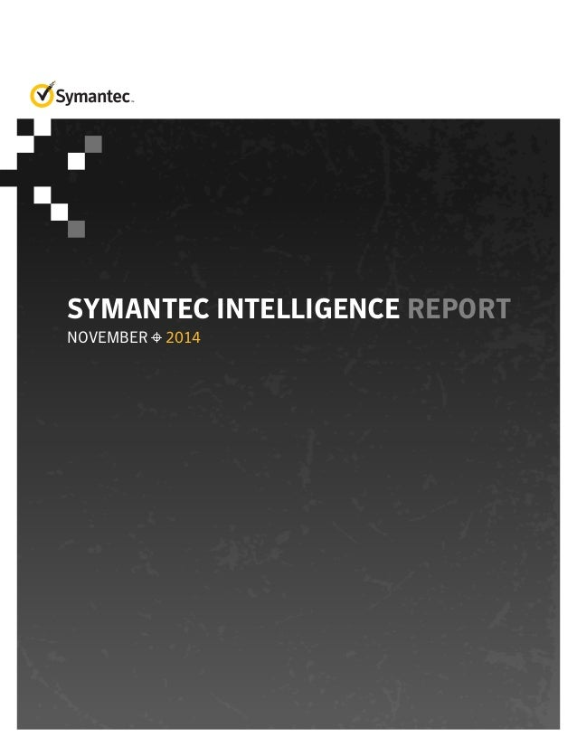 Symantec Intelligence Report November 2014