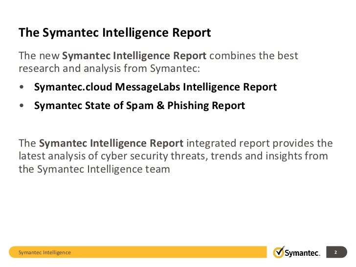Symantec Intelligence Report August 2011 Slide 2