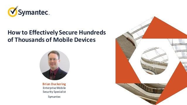 Symantec Mobile Security Webinar