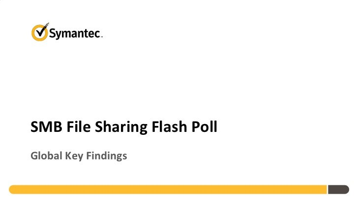 Symantec SMB File Sharing Flash Poll