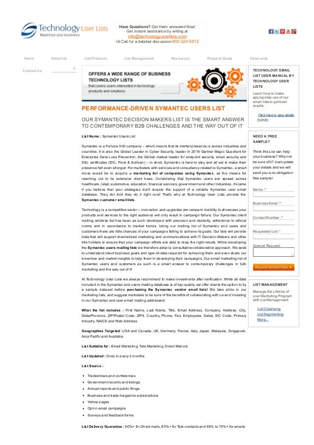 symantec users list symantec customers email addresses symantec rh slideshare net symantec q a user manual symantec endpoint encryption user manual