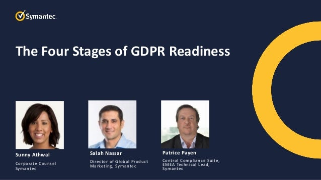 Symantec Webinar Part 1 of 6 The Four Stages of GDPR Readiness