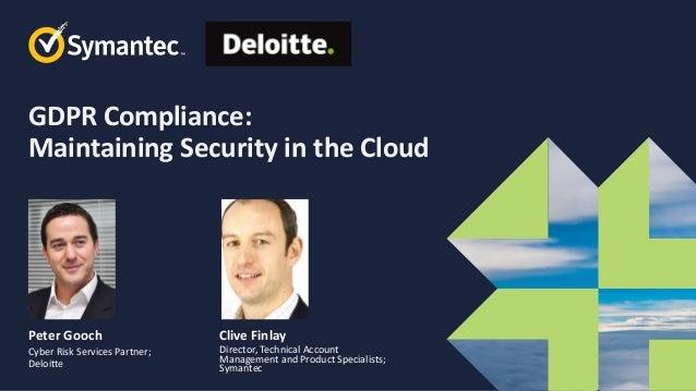 Symantec Webinar Part 2 of 6 GDPR Compliance