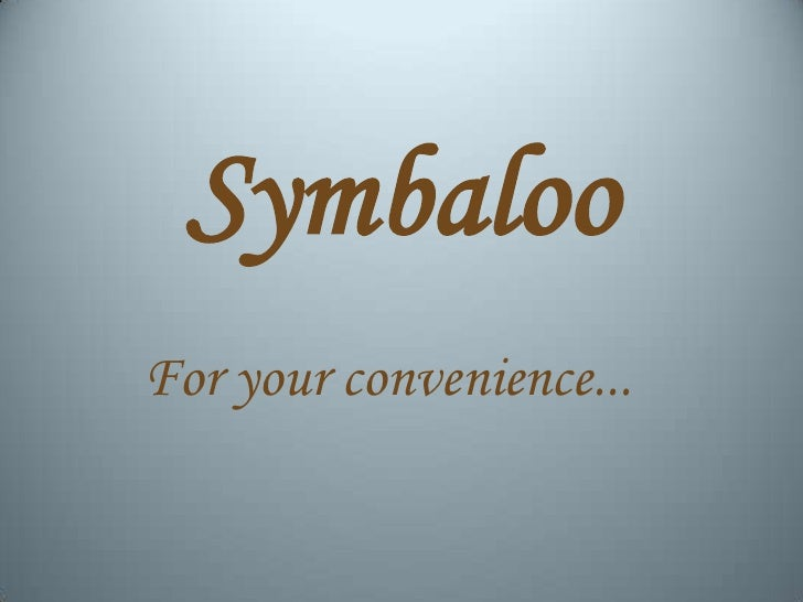 SymbalooFor your convenience...