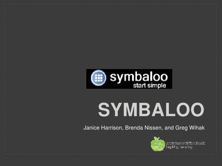 Symbaloo<br />Janice Harrison, Brenda Nissen, and Greg Wihak<br />