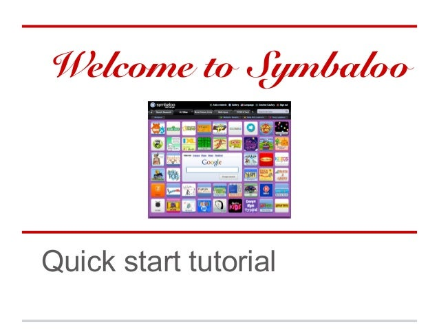 Welcome to SymbalooQuick start tutorial