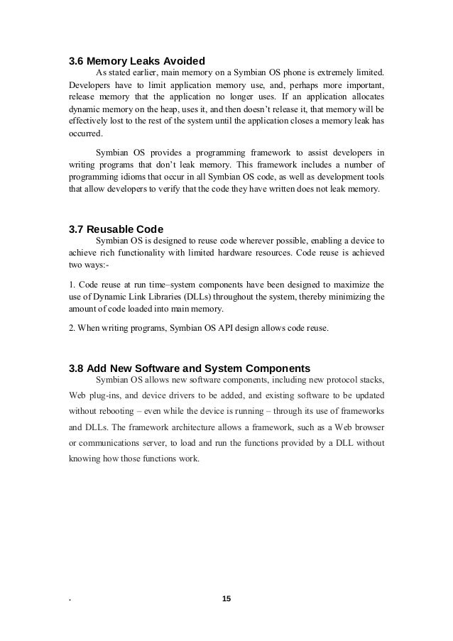 Symbian mobile operating system seminar report