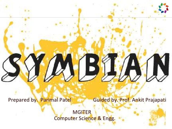 Prepared by.  Parimal Patel                 Guided by. Prof. AnkitPrajapati<br />          MGITER<br />         Compu...