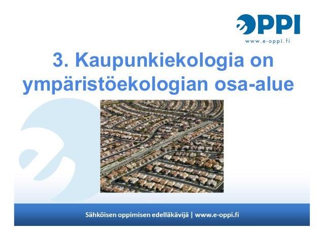 Kaupunkiekologia