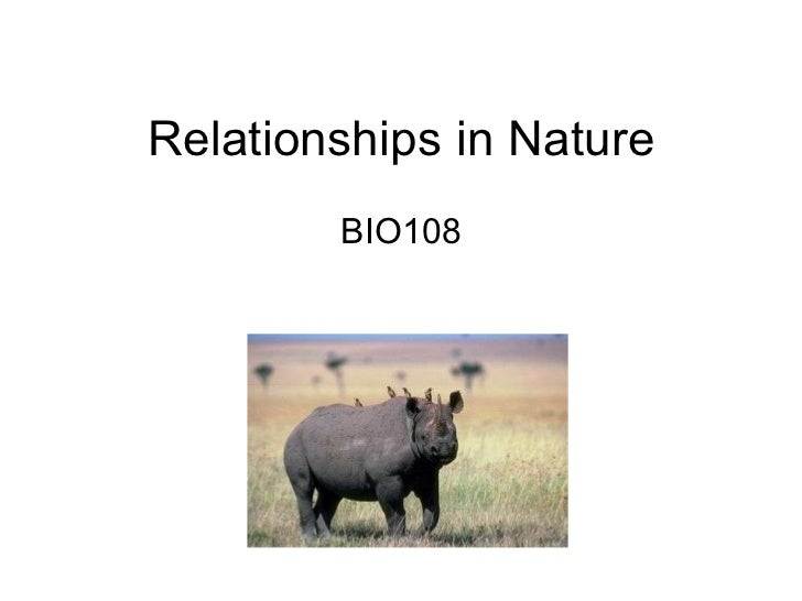Relationships in Nature BIO108