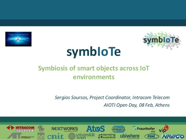 © 2016 – The symbIoTe Consortium Symbiosis of smart objects across IoT environments symbIoTe Sergios Soursos, Project Coor...