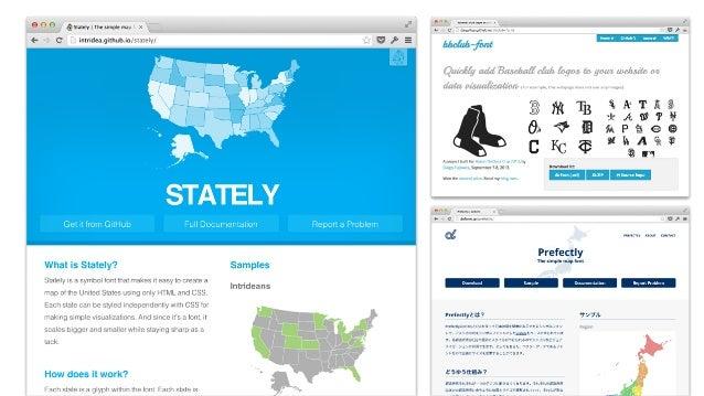 GLYPHICONS • Bootstrapに同梱 • 商用ライセンスなら、 ロイヤリティフリー! • 混ぜても大丈夫