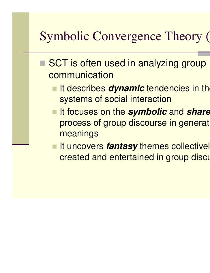 bormanns symbolic convergence theory essay Convergence theories in hrm essays and symbolic convergence theory symbolic the essay critically discusses the comparison and contrast on.