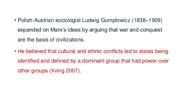 • German sociologist Georg Simmel (1858–1918) believed that conflict can help integrate and stabilize a society. He said t...