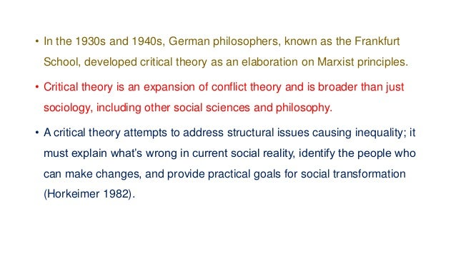 Conflict Theory Assumptions • In current conflict theory, there are four primary assumptions which are helpful to understa...