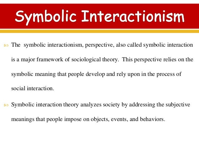 the importance of social interactionism in interpreting the meanings of human behavior - symbolic interactionism on the surface, sociology is the study of society and human behavior yet looking deeper, it is the study of humans in groups and how they interact with one another sociologists look at these groups by means of the sociological perspective.