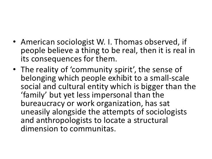 Symbolic Social Construction Of Community