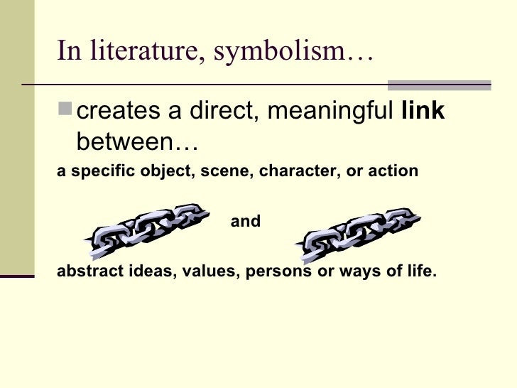 Example Of Symbol In Literature Image Slidesharecdn Com Symbolism