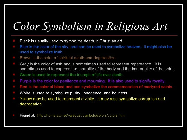 Symbolism In Religious Art