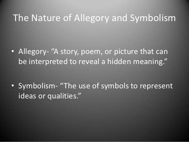 Symbolism And Allegory In Popular Culture