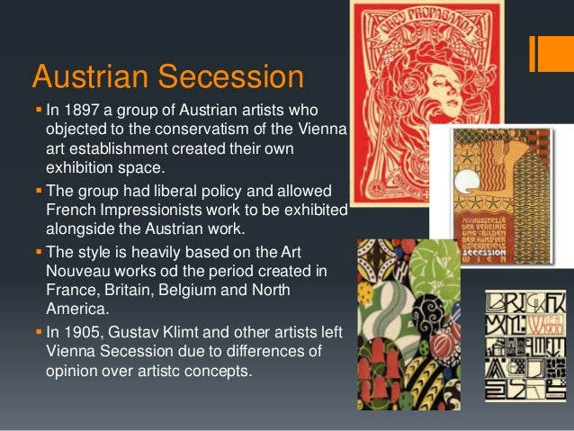 the history and characteristics of the art nouveau movement Modern art timeline 1 gives an  fauvist paintings have two main characteristics:  they also list the major artists and illustrate a key work from each movement.