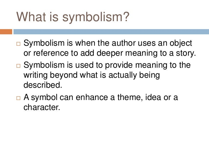 definition symbolism in literature
