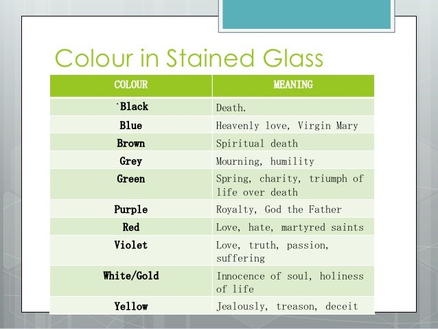 Symbolism In Stained Glass Windows