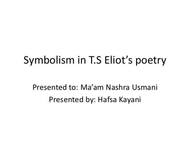 Poems Symbolism 5