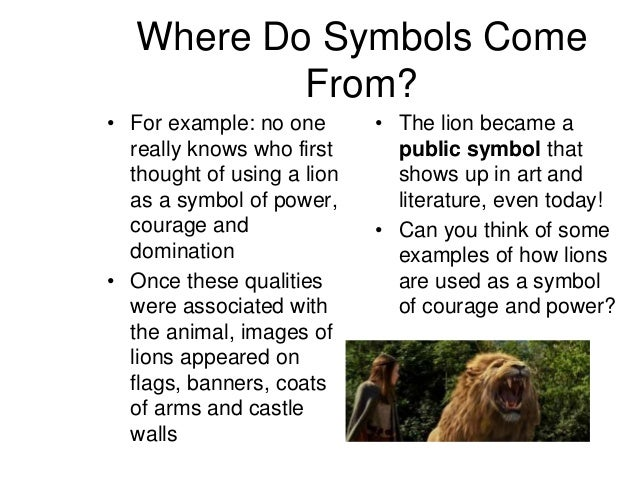 symbolism ppt   7 where do symbols
