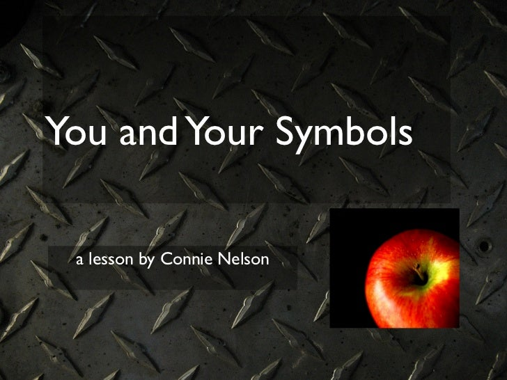 You and Your Symbols a lesson by Connie Nelson