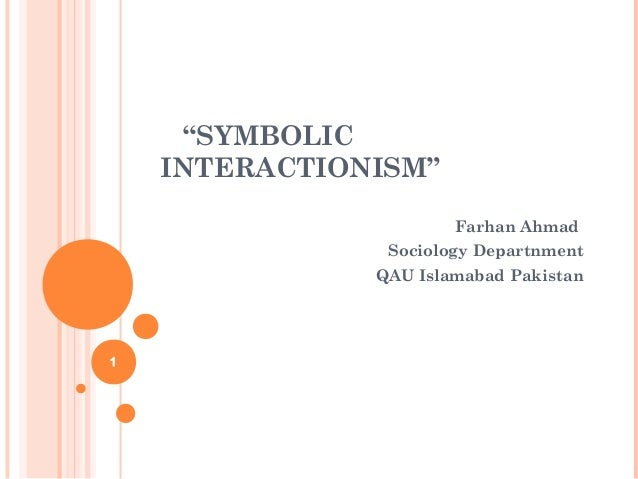 sembolic interactionism The increased interest to the problem of communication in sociology of the 20 century actualized, in particular, importance of understanding each.