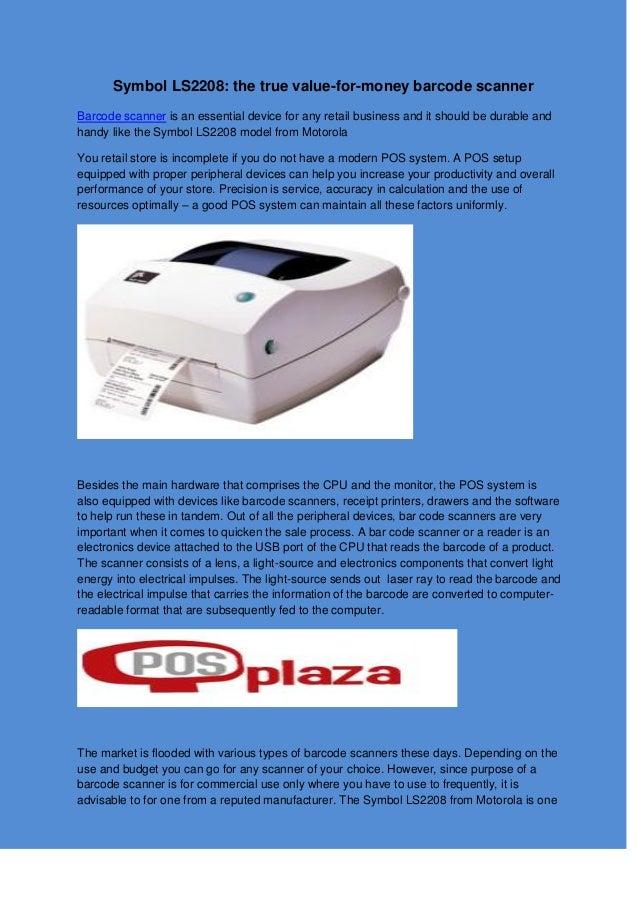 Symbol Ls2208 The True Value For Money Barcode Scanner