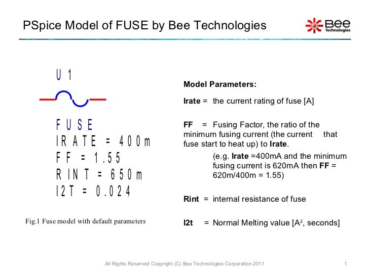 Symbol of fuse pspice model